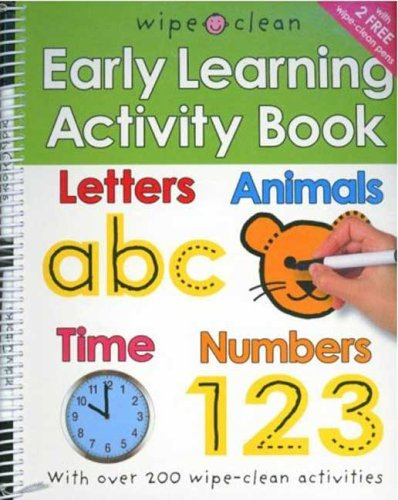 Wipe Clean: Early Learning Activity Book  N/A 9780312499228 Front Cover