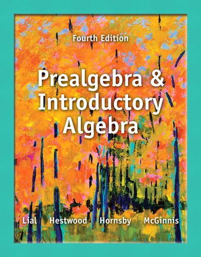 Prealgebra and Introductory Algebra  4th 2014 edition cover