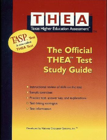 THEA:OFFICIAL TASP TEST STUDY N/A edition cover