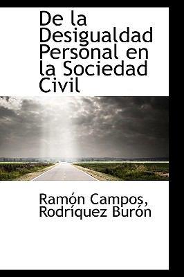 De la Desigualdad Personal en la Sociedad Civil  2009 edition cover