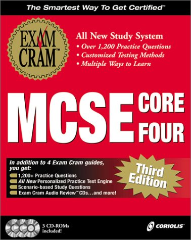 MCSE Core-Four Exam Cram Pack : The New Interactive Study System Designed for Microsoft Certification: Microsoft Certified Systems Engineer 2nd 2000 9781576106228 Front Cover