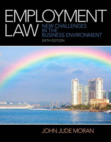 Employment Law  6th 2014 edition cover