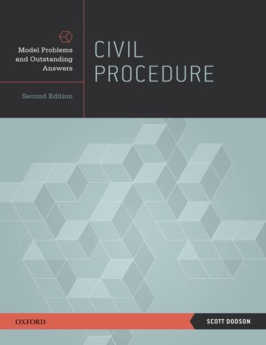 Civil Procedure Model Problems and Outstanding Answers 2nd 2013 edition cover