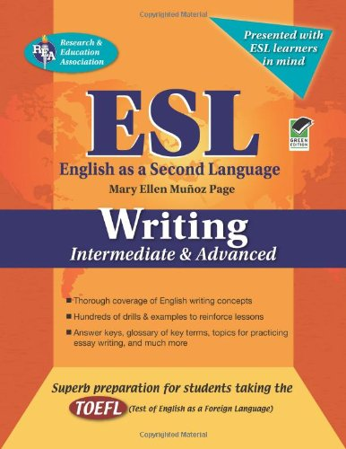ESL Intermediate/Advanced Writing  N/A edition cover