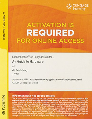 A+ GUIDE TO HARDWARE-ACCESS             N/A 9781285838229 Front Cover