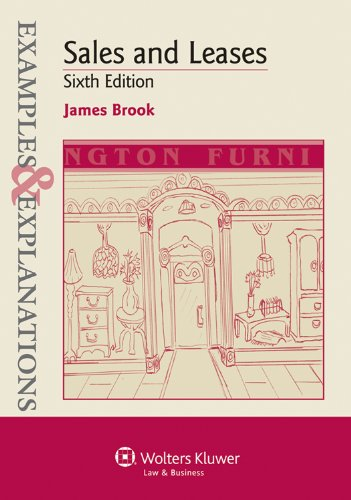 Sales and Leases Examples and Explanations 6th 2012 (Student Manual, Study Guide, etc.) edition cover