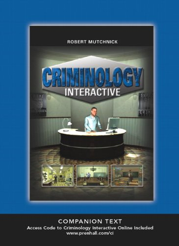 Criminology Interactive (Text + Access Code)   2010 9780135057230 Front Cover