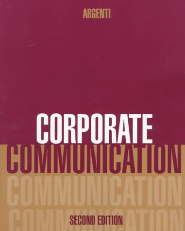 Corporate Communication  2nd 1998 9780256217230 Front Cover