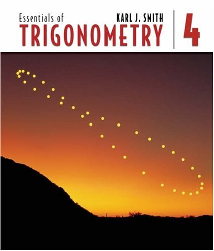Essentials of Trigonometry  4th 2006 (Revised) 9780534494230 Front Cover