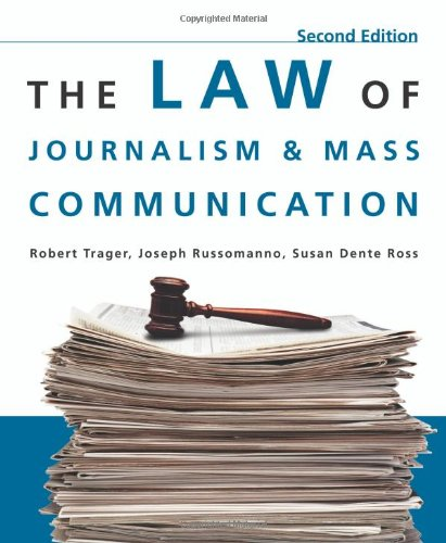Law of Journalism and Mass Communication  2nd 2009 (Revised) edition cover