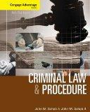 Cengage Advantage Books: Criminal Law and Procedure  8th 2014 edition cover