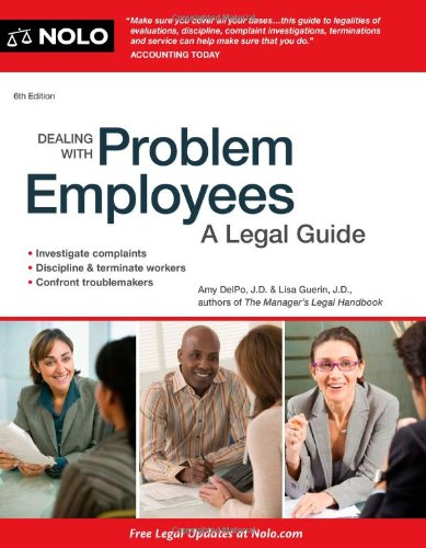 Dealing with Problem Employees A Legal Guide 6th 2011 (Revised) edition cover