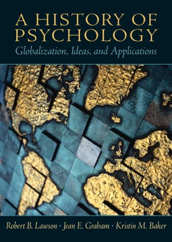 History of Psychology Globalization, Ideas, and Applications  2006 edition cover