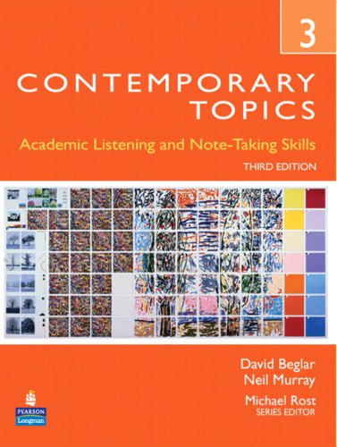 Contemporary Topics 3 Academic and Note-Taking Skills (Advanced) 3rd 2008 edition cover
