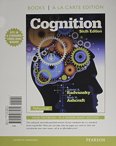 Cognition, Books a la Carte Edition  6th 2014 edition cover