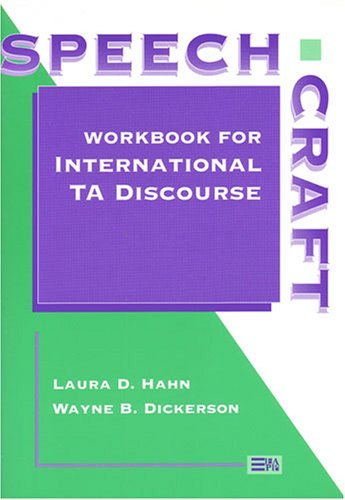 Speechcraft Workbook for International TA Discourse N/A 9780472085231 Front Cover