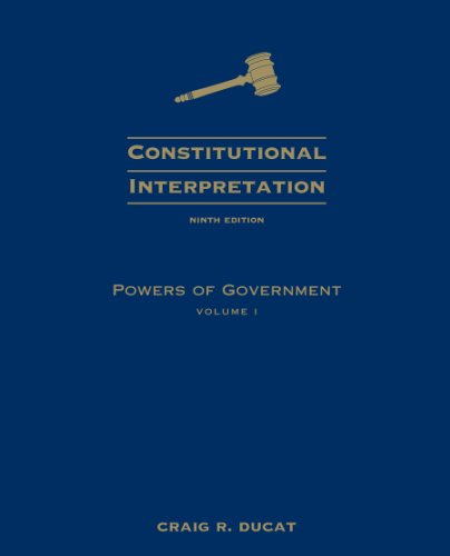 Powers of Government  9th 2009 edition cover