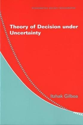 Theory of Decision under Uncertainty   2009 9780521741231 Front Cover