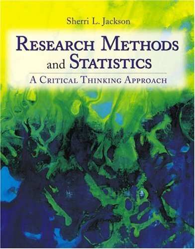 Research Methods and Statistics A Critical Thinking Approach  2003 9780534554231 Front Cover