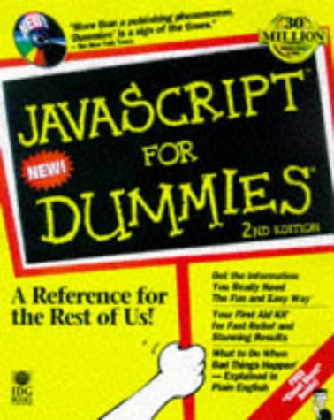 JavaScript for Dummies  2nd 1997 9780764502231 Front Cover