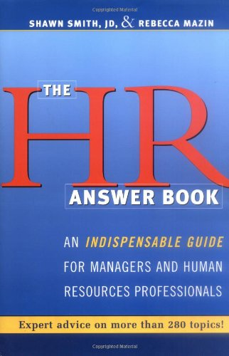 HR Answer Book An Indispensable Guide for Managers and Human Resources Professionals  2004 edition cover