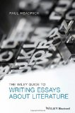 Wiley Guide to Writing Essays about Literature   2014 edition cover