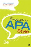 An Easyguide to Apa Style:   2016 9781483383231 Front Cover