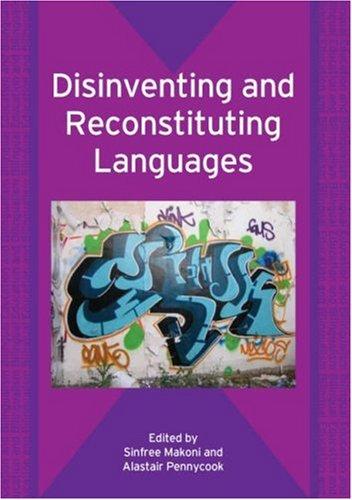 Disinventing and Reconstituting Languages   2006 edition cover