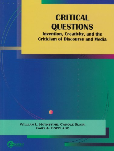 Critical Questions Invention, Creativity, and the Criticism of Discourse and Media  2003 edition cover