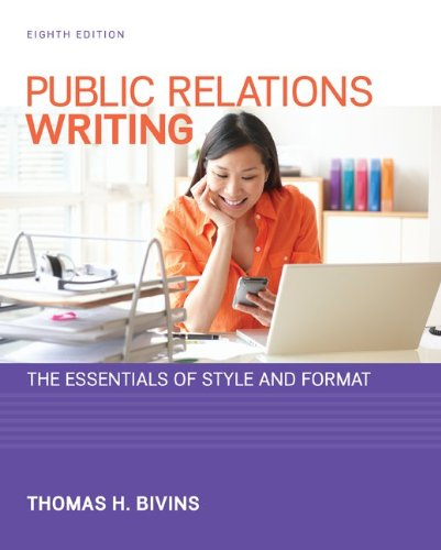 Public Relations Writing: The Essentials of Style and Format  2013 edition cover