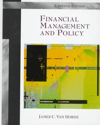 Financial Management and Policy  11th 1998 edition cover