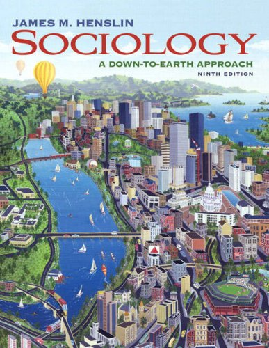 Sociology A down-to-Earth Approach 9th 2008 edition cover