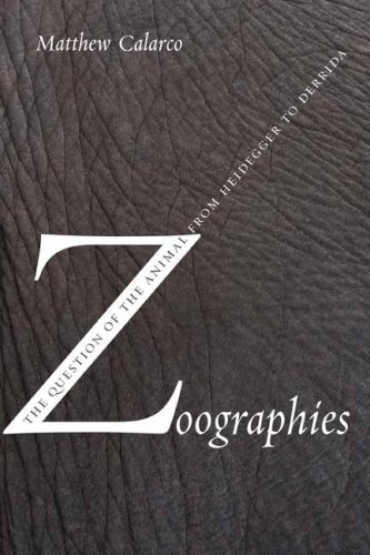 Zoographies The Question of the Animal from Heidegger to Derrida  2008 9780231140232 Front Cover