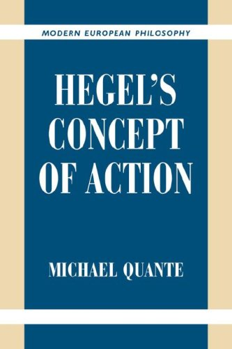 Hegel's Concept of Action   2007 9780521038232 Front Cover