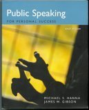PUBLIC SPEAKING F/PERSONAL SUC 6th 2003 9780536681232 Front Cover