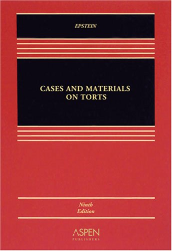 Torts  9th 2008 (Revised) edition cover