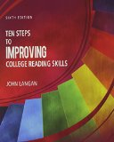Ten Steps to Improving College Reading Skills:   2013 edition cover