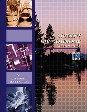 Student Lab Notebook 50 Spiral Bound Duplicate Pages N/A edition cover