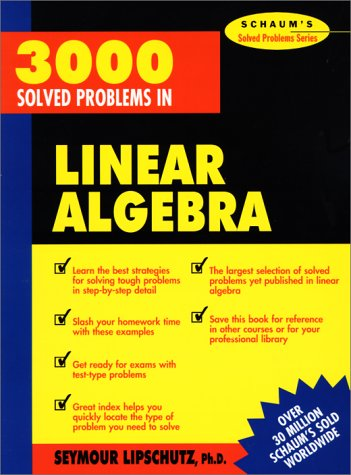 3000 Solved Problems in Linear Algebra   1989 edition cover