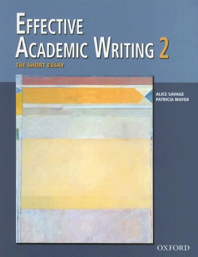 Effective Academic Writing   2006 9780194309233 Front Cover
