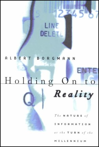 Holding on to Reality The Nature of Information at the Turn of the Millennium  1999 edition cover