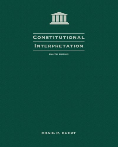 Constitutional Interpretation 2006 Supplement:  9th 2006 9780495116233 Front Cover