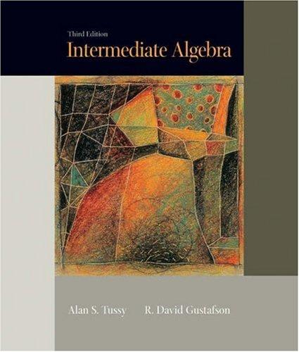 Intermediate Algebra  3rd 2005 (Revised) 9780534419233 Front Cover