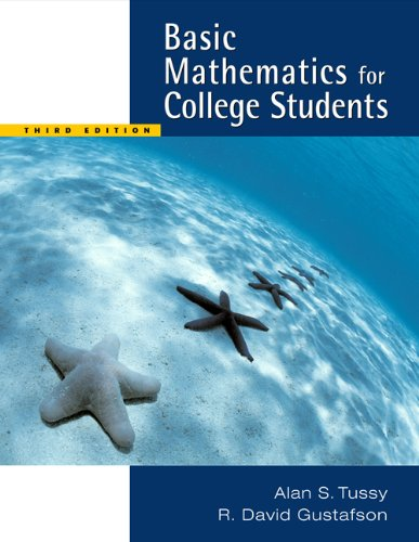 Basic Mathematics for College Students  3rd 2006 9780534422233 Front Cover