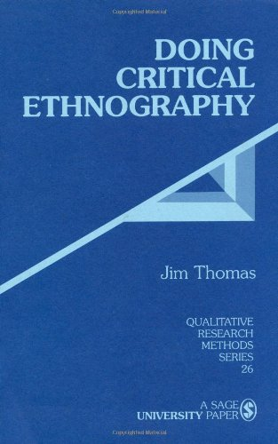 Doing Critical Ethnography   1992 edition cover