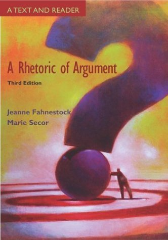 Rhetoric of Argument Text and Reader with Catalyst Access Card 3rd 2004 (Revised) 9780072938234 Front Cover