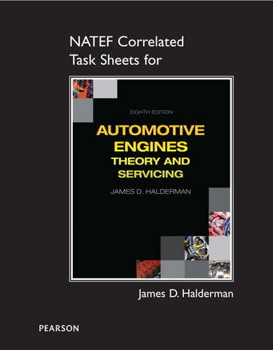 NATEF Correlated Task Sheets for Automotive Engines Theory and Servicing 8th 2015 edition cover