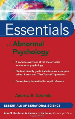 Essentials of Abnormal Psychology   2006 edition cover