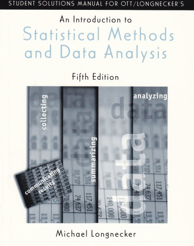 Introduction to Statistical Methods and Data Analysis  5th 2001 9780534371234 Front Cover