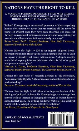 Nations Have the Right to Kill Hitler, the Holocaust and War N/A 9780915042234 Front Cover